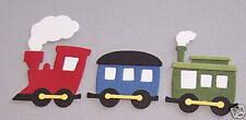 1 Train Set Premade PAPER Die Cuts / Scrapbook & Card Making