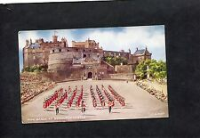 C1950's Artist ( E.E. Trich) View Of Pipe Bands Playing At Edinburgh Castle.