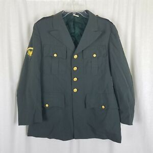 Vietnam War Era US Army Specialist 5 Rank Uniform Coat Blazer Jacket Mens sz 40S