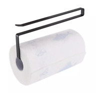 Under Cabinet Toilet Paper Towel Roll Holder Hanger Storage Rack Kitchen Shelf