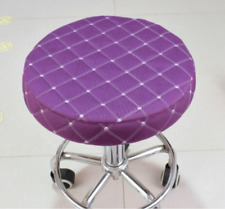 """10Pcs 14"""" Bar Stool Covers Round Chair Seat Cover Cushions Sleeve Purple Dental"""