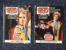 DOCTOR WHO GOLDEN WONDER MARVEL ADVENTURE COMICS No.4 & 5 of 6 1986