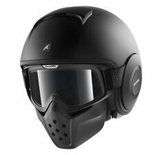 Casco Shark Raw Blank Mat Black Taglia L He3012ekmal