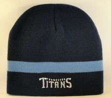 Tennessee Titans NFL Knit Beanie Hat Navy Sky Blue Stripe