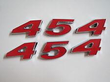 CHEVROLET 454 ENGINE ID FENDER HOOD SCOOP QUARTER TRUNK EMBLEMS - RED