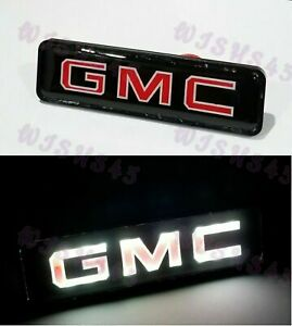New For GMC LED Logo Light Badge Illuminated Car Decal Sticker For Front Grille