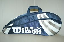 Wilson 3Lx Navy Blue w/shoulder Strap and Tennis Racket Cover