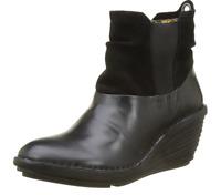Fly London SULA BLACK Womens Boots Heel Wedge US 9-9.5 EU 40