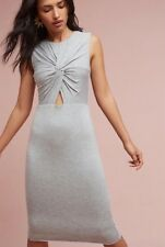NEW $148 Bailey 44 Knotted Cut Out Dress Size Small Gray Knit Pencil