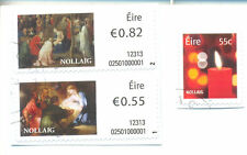 Ireland-2012 Xmas set of 3 fine used self-adhesive2145/7
