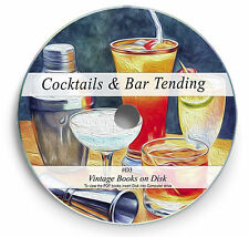 Rare Books on DVD  Classic Cocktails Recipes Alcoholic Party Drinks Mocktails D3