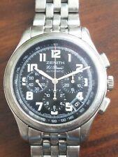 Zenith El Primero Automatic Chronograph Watch Class sport blue dial 03.0510.400