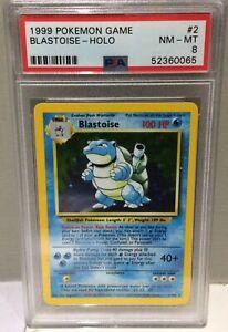 1999 Pokemon Game Base Set no2 Blastoise Holo - PSA8 Near Mint / Mint