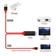 Câble HDMI Convertisseur Audio Vidéo pour iPhone et iPad HDTV - Neuf