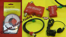 Satellite Dish Meter, Patch lead & Angle Finder Kit