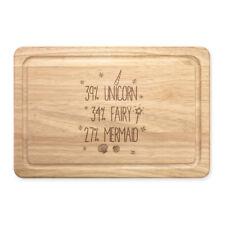 39% Unicorn 34% Fairy 27% Mermaid Rectangular Wooden Chopping Board - Funny