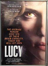 Cinema Poster: LUCY 2014 (One Sh) Scarlett Johansson Morgan Freeman Min-sik Choi