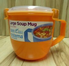 Sistema Large Klip It Microwave Soup To Go Mug 900ml Orange