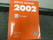 2002 Chevy Corvette Coupe Convertible Shop Service Body Repair Manual V3 Z06
