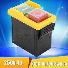 250V 4A IP54 5E4 Universal Replacement KJD6 On/Off Switch Part For Woodworking