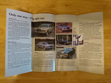 1984 Rolls Royce & Bentley Brochure inc. Mulsanne, Camargue, Corniche