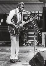CHUCK BERRY PHOTO 1982 HUGE 12 INCHES VINTAGE UNIQUE IMAGE B& W PHOTO EXCLUSIVE