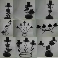 Black ironwork candle holders (candelabras) multiple designs availiable