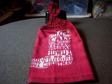 Western Cowboy Boot Crochet Top Kitchen Towel