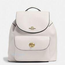 New Coach F37621 Mini Billie Backpack In Pebble Leather Chalk NWT