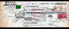 """PARIS (I°) PRODUITS ALIMENTAIRES """"P.A.R.A.L. / MOYNE Succ"""" en 1950"""