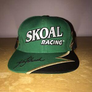 VINTAGE DEADSTOCK KEN SCHRADER SKOAL RACING SNAPBACK HAT #33 NASCAR