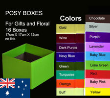 16X Posy Cardborad Gift and Flower Boxes 17X17X12cm