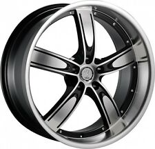 20 inch  20x10 Velocity V850-A Black Machined wheel rim 5x112 +35