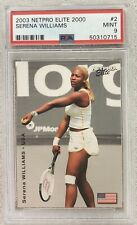 PSA 9 - 2003 Netpro Elite Serena Williams Rookie RC (#2) / 2000 Super Low Pop!!