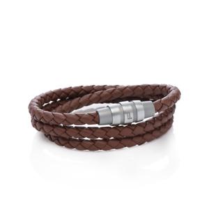 Porsche Design Bracelet Grooves Triple stainless steel,Brown 19 cm 21,5 cm *NEW*