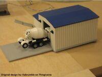 HO Scale Truck Repair Garage. 3D printed kit(Gray) Unassembled