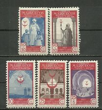 SPANISH MOROCCO   1947. Complete series 5 New stamps**.   (4235)