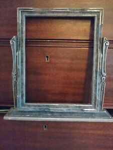 Victorian Tabletop Wooden Pivot Swivel Picture Frame