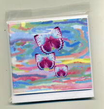 SALE!! PACK OF 9 BUTTERFLY GIFT NOTELETS {FREE P&P} bySELF-REP' ARTIST