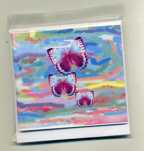 SALE!! PACK OF 9 BUTTERFLY MINI GIFT NOTELETS {FREE P&P} bySELF-REP' ARTIST