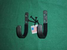 small hammered bronze wall mount Gun rack shotgun hooks rifle hanger felt lined