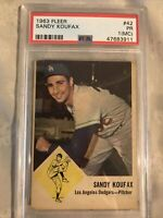 1963 Fleer Sandy Koufax #42 PSA 1(MC) PR Poor Los Angeles Dodgers HOF