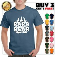 Papa Bear Funny T Shirt Cute Father's Day Gift Shirt New Dad Tee