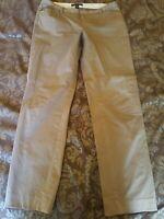 Banana Republic KHAKI BROWN Low Rise Ryan Fit Straight Leg Pants STRETCH Size 6