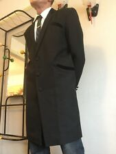 Teddy Boy Drape Jacket Half black Velvet collar 1950s Rock and Roll SMART BLACK
