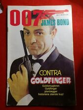 Collectible Danish Comic Book. 007 James Bond.Sean Connery.Goldfinger.1981.