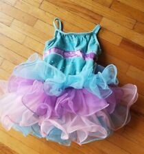 WEISSMAN Girl's Dance Costume Dress Tutu Rhinestones purple Blue Pink XSC
