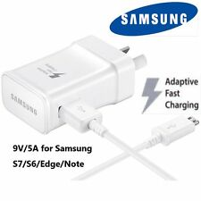 Genuine Samsung 5V/9V  adaptive Fast charge wall charger for Galaxy S6, S7, Edge