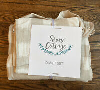 Stone Cottage® Braxton Duvet Cover Set - Color: Natural, Full/Queen