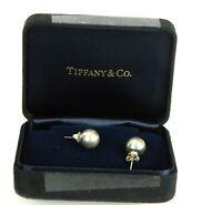 Tiffany & Co. 925 Sterling Silver 10mm Ball Bead Post Stud Earrings w/Box